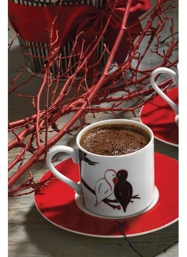 Kütahya Porselen Rüya 10486 Desen Kahve Fincan Takımı Renkli